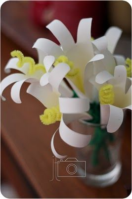 handprint Easter lilies  -  repinned by @PediaStaff – Please Visit http://ht.ly/63sNt for all our pediatric therapy pins