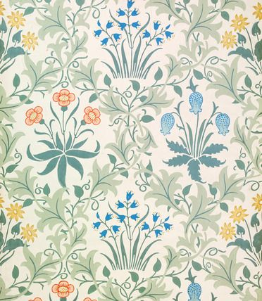 Wallpaper, by William Morris (1834-96). England, late 19th century.