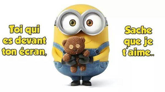Je t'aime... ...: Minions, Minion Quotes, Funny Stuff, Funny Minions ...