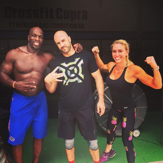 Pre-show training #Check! Next up, #WWEMerida @wwecesaro @charlottewwe @titusoneilwwe