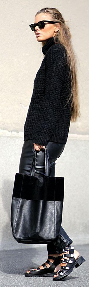Black Multi Buckle Sandals