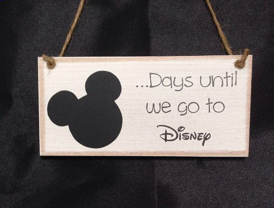 Personalised Chalkboard Countdown hanging Plaque Sign Holiday Days until Disney