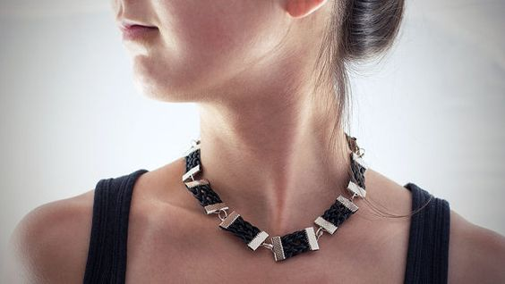 #handmade #leather #choker #necklace #thesilverlance #etsy
