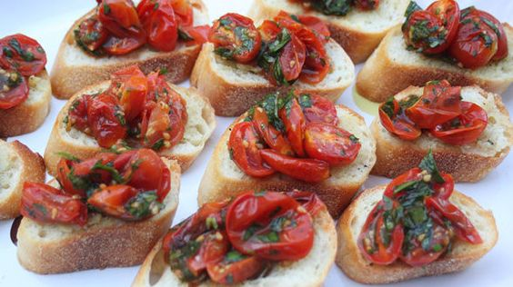 Roasted Cherry Tomato Bruschetta with roasted garlic, rachael ray ...