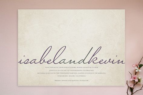 Light Hearted Wedding Invitations by roxy at minted.com