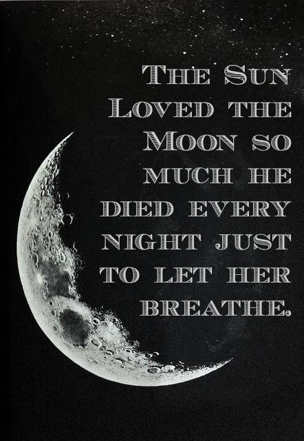 solen älskade månen: