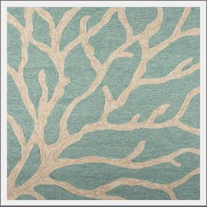 Coastal Living coral rug. The coral rug adds a seaside element in hues of sand, sea and sky to your indoor or outdoor living space. Inspired by the pages of Coastal Living magazine. From the official Coastal Living collection.