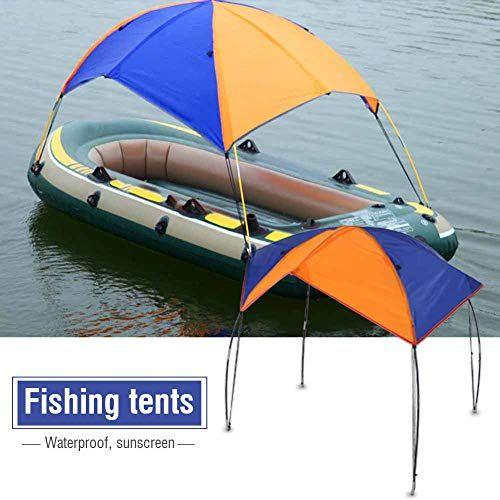 Owlike Boat Sun Shelter Sun Umbrella Sailboat Awning Cover Fishing Tent Sun Shade 4 Persons In 2020 Inflatable Kayak Rain Shelter Kayak Boats
