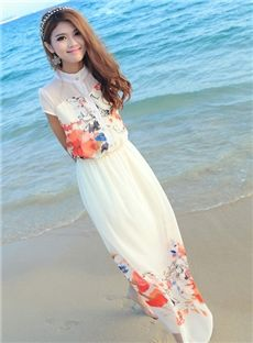 Temperament Slim Maxi Dress