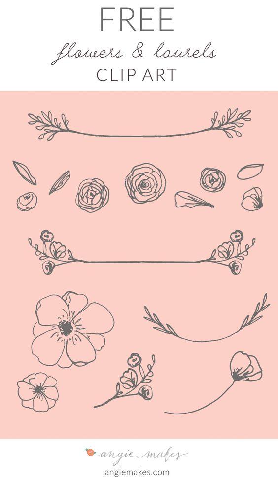Free Laurel Clip Art | angiemakes.com #handdrawn #laurels #bloggraphics