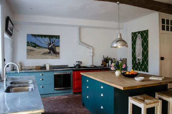 colourful country kitchen design
