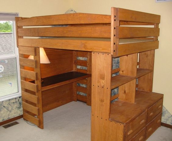 Bunk and Loft Factory. I.love.this!  So practical in a small or large space: desk, dresser, bed, fort, etc:)