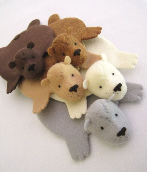 Felt Bear Rug Coasters I Donu0027t Do But These Are Hilarious And