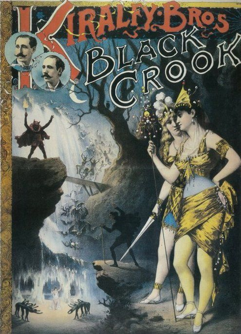 Poster For The Black Crook Production 1866 Double Treat The Black Crook From New York And London O Vintage French Posters Broadway Posters Theatre Poster
