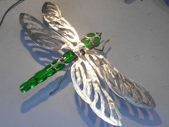 Large Dragonfly Garden Sculpture , Giant Dragonfly