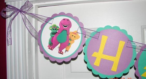 Barney Birthday Banner