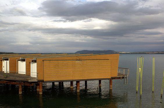 Hotel Palafitte, built on a lake - Neuchatel