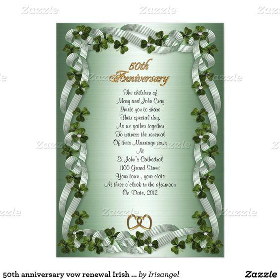 50th Wedding Anniversary Vows Renewal: Invitations, Vows And Irish On Pinterest