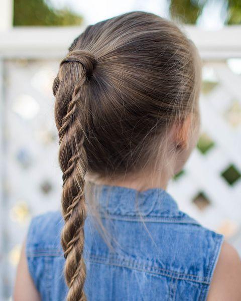 Twist Wrap Ponytail Easy Kids Hairstyles