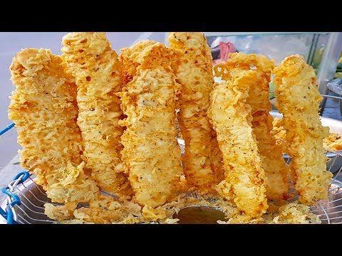 Cambodian Street Food Banana Fritters Phnom Penh Cambodia Youtube Makanan Jalanan Makanan Kamboja