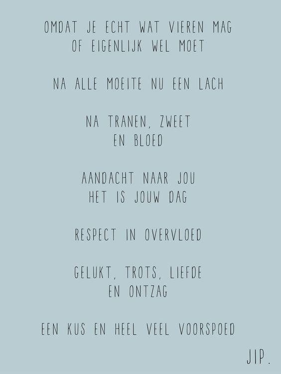 Verjaardag kaartje, gedichtje versje om te feliciteren van Gewoon JIP.