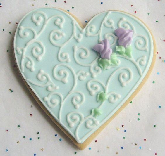 wedding heart cookies