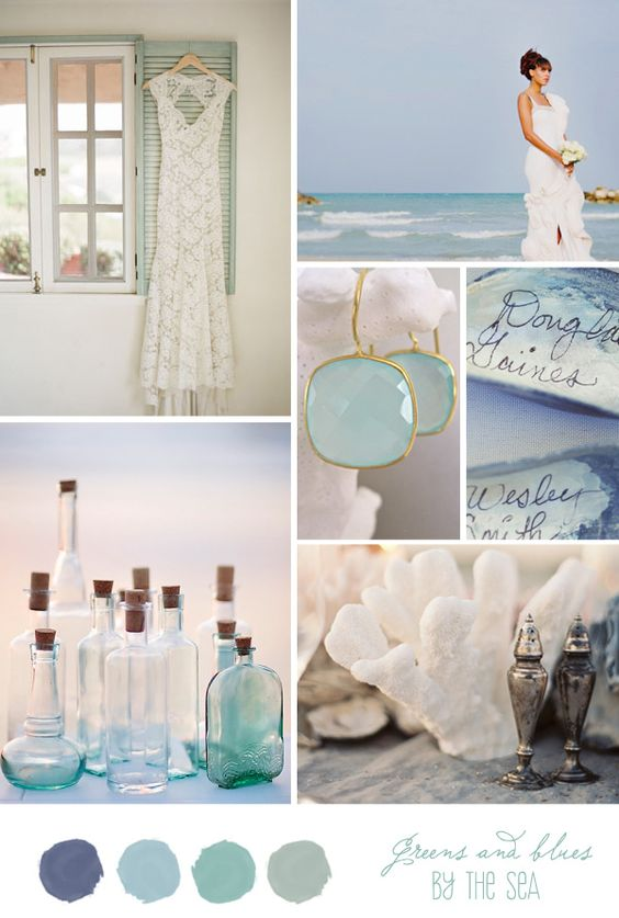 Inspiration Board: By the Sea - Belle & Chic love the colours:
