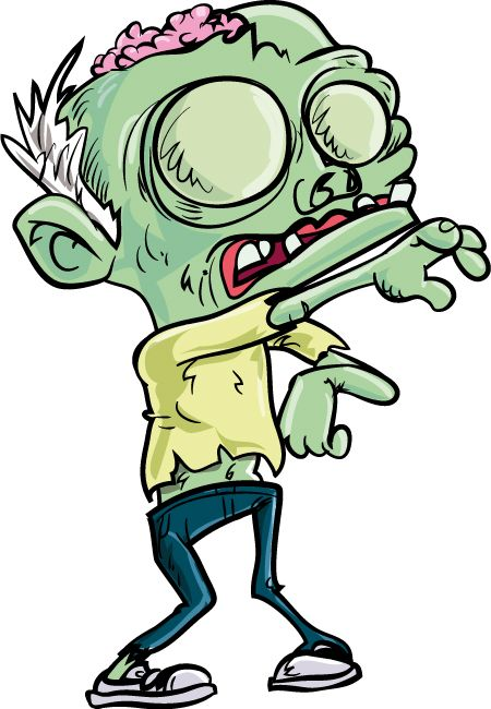 Cartoon zombie and posts on pinterest