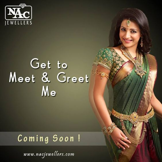 Indian Jewellery And Clothing: South Indian Actress Trisha