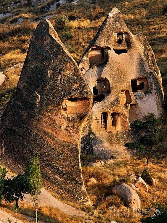 Cave houses, Nevsehir, Central Anatolia, Turkey.