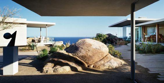 Прекрасный дом на берегу океана от архитектурного бюро Steven Harris Architects