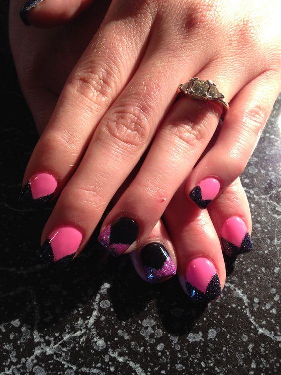V-tips pink and black