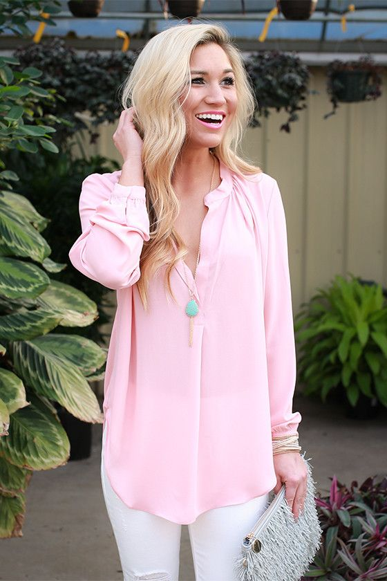 This top is the perfect layering piece for a breezy look that never fails! Wear it over a camisole with a skirt for a gorgeous work look, or wear it underneath a cardigan for a look that keeps you looking cool while staying warm!: