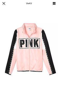 NWT Victorias Secret PINK Full Zip Anorak Windbreaker Jacket Hoodie M/L