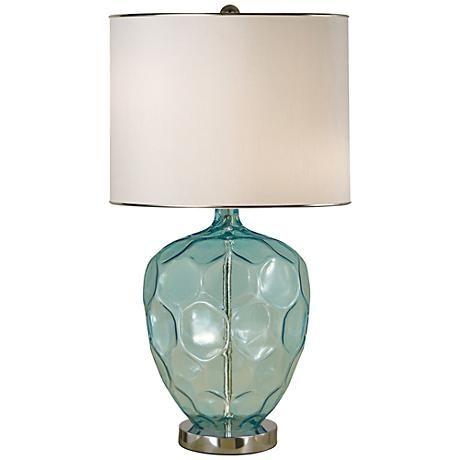 Croyton Framed Blown Glass Table Lamp - #2V843 | LampsPlus.com