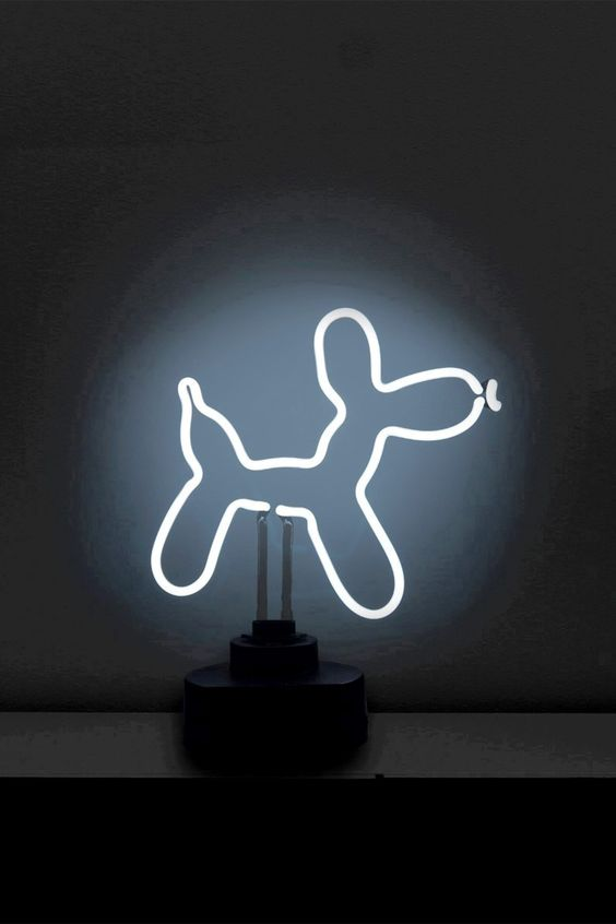 Balloon Dog Tabletop Neon Sign by Oliver Gal Gallery on @HauteLook