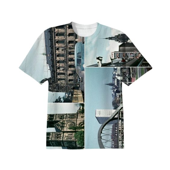 Vintage Wuppertal Photo Collage T-Shirt from Print All Over Me