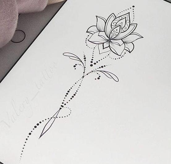 Lotus For Strength In Adversity Tatuagem De Unalome