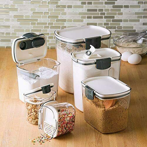 Progressive International Preworks Prokeeper 6 Piece Clear Storage Container Set In 2020 Airtight Food Storage Airtight Food Storage Containers Flour Storage Container
