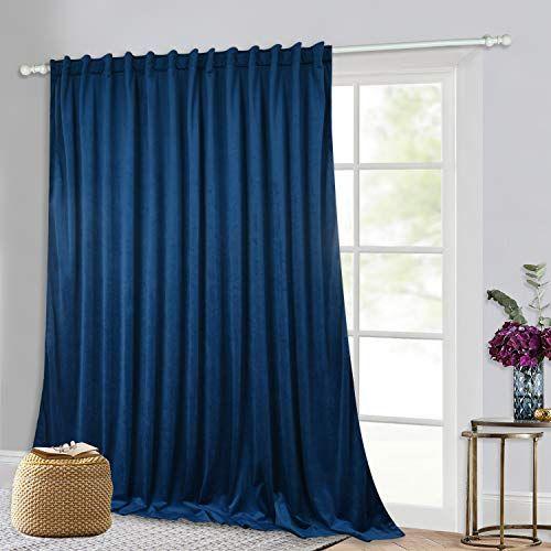 Velvet Curtains 120 Inch Long Sunlight Blackout Extra L Https Smile Amazon Com Dp B07k47nycv Ref Cm S In 2020 Velvet Curtains Insulated Curtains Slider Curtains