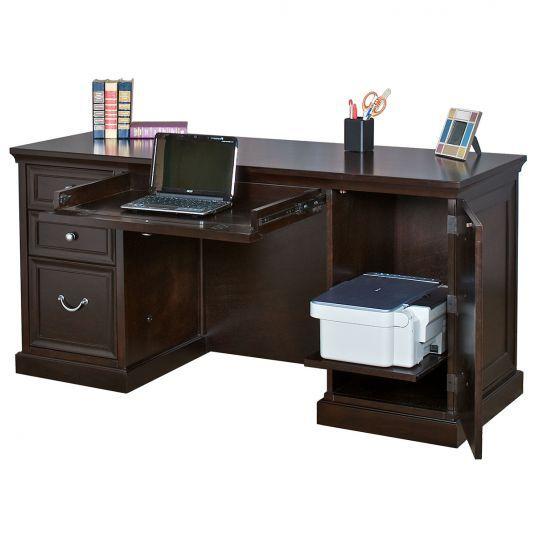 Double Pedestal Desk For Sale Espresso Finish Desk Pedestal Desk Double Pedestal Desk Home Office Furniture