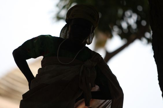 A silhouette of South Sudan