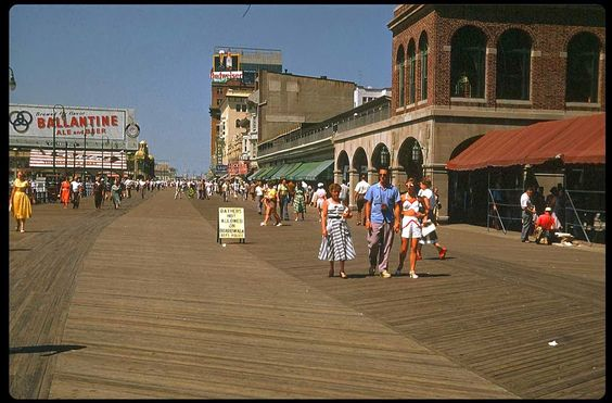 Boardwalk, Atlantic City - 1953. Every year this was our vacation spot.