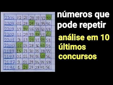 Analise 10 Ultimos Concursos E Numeros Que Pode Repetir N Mega