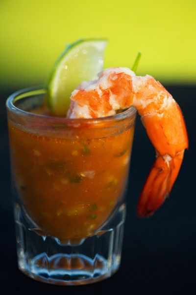 Gazpacho canapes and bloody mary on pinterest for Prawn cocktail canape