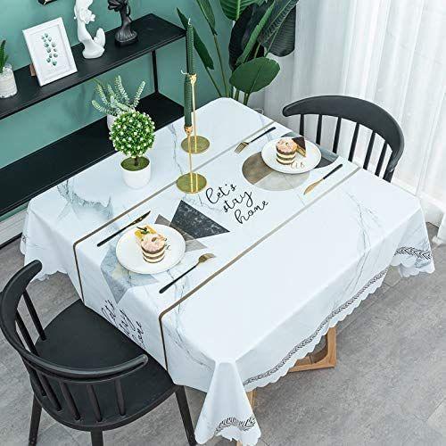 Imperméable Nappe Table Rectangle Carré Tissu Housse Table de salle à manger Home Decor