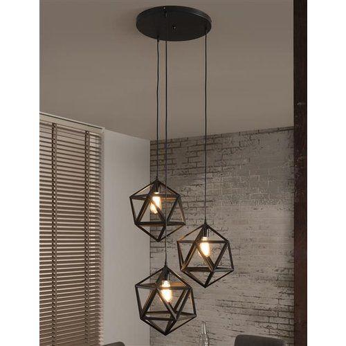 Alaska Hanglamp Zwart Triangle 3 Lampen Hanglamp Lichtarmaturen Plafondlamp