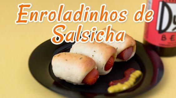 Enroladinho de Salsicha Fácil - Receitas de Minuto #62
