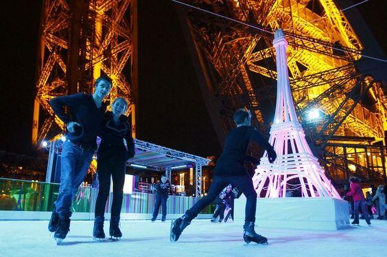 Patinar sobre hielo a 57 metros de altura... en la Torre Eiffel