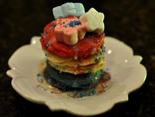 - Blueberry, Confetti, and Strawberry Pancakes with White Chocolate ...